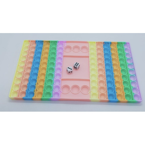 Foto Produk Pop It Fidget Toy Murah Rainbow Mainan Anak Super Jumbo - dadu pastel dari accgisell