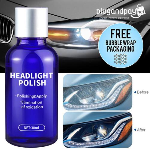 Foto Produk Cairan Pemutih Lampu Mobil Headlight Polish Repair Coat 30ml Poles dari plugandpay
