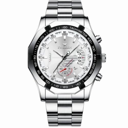 Foto Produk Jam Tangan Pria FNGEEN S001 SILVER ORIGINAL PROMO LEBARAN - silver putih dari Jam sepatu original JSO