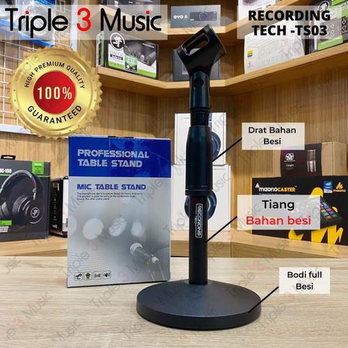 Foto Produk Recording Tech TS03 STAND MIC MEJA Podcast podium premium bahan besi dari triple3music
