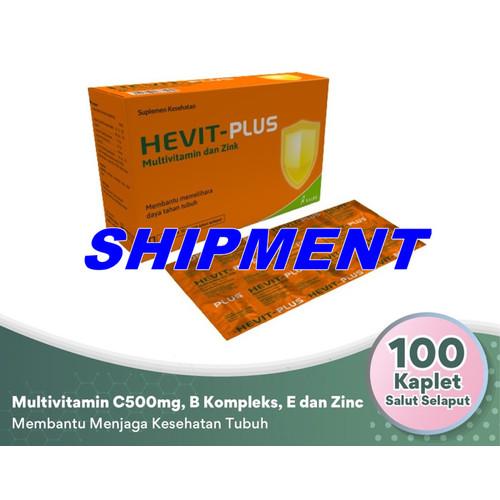 Foto Produk SHIPMENT Hevit Plus VITAMIN C 500 B1 B6 B12 E Zinc Multivitamin KALBE - STRIP 10 Butir dari Shipment