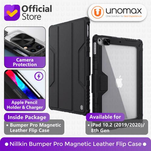 "Foto Produk Case iPad 8 (2020) / 7 (2019) 10.2"" Nillkin Bumper Magnetic Flip - Hitam dari unomax"