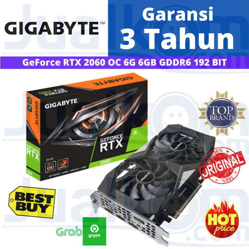 Foto Produk VGA Gigabyte GeForce RTX2060 RTX 2060 OC 6 GB 6GB DDR6 192BIT dari Karya Megah Computers