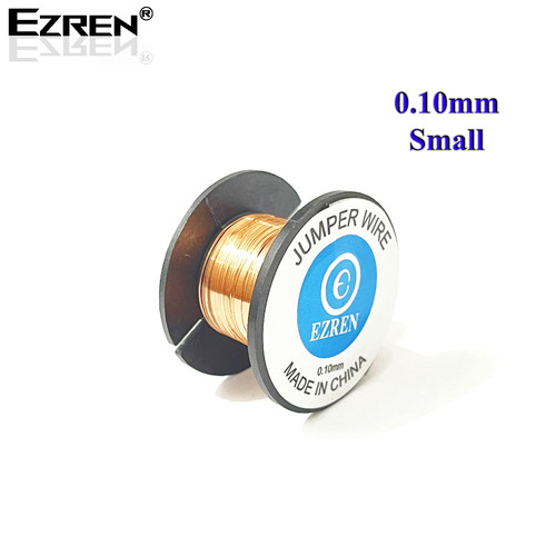Foto Produk Ezren Copper Jumper Soldering Wire Kawat Jamper 0.10mm Chip PCB Small dari HOUSE SPAREPART