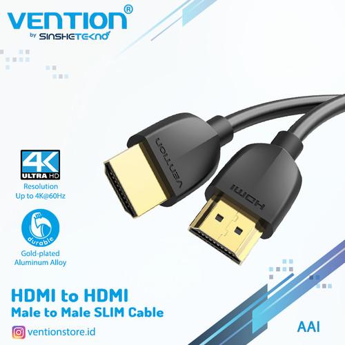 Foto Produk kabel HDMI Vention AAI Portable Slim Design V2.0 HDR Gold Plated - AAIBF dari VENTION by SinsheTekno