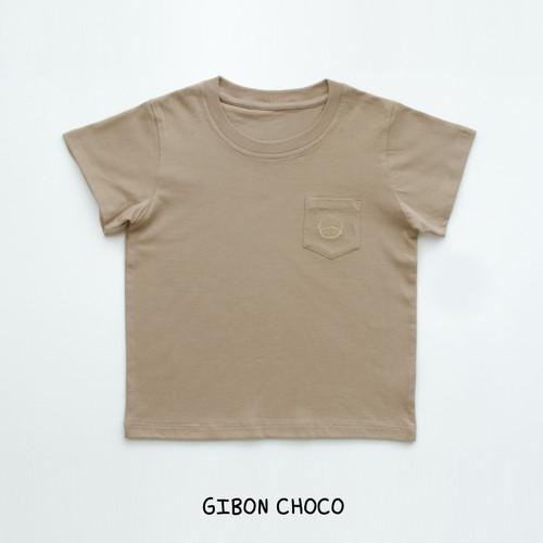 Foto Produk HEYTIMMY Gibon Kaos Tshirt Polos Anak Dengan Kantong Bordir - Choco, 4-5 tahun dari HEYTIMMY