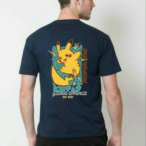 Foto Produk Glorio T-shirt Casual/Kaos Pria/T-shirt Premium] Pokemon - Navy, M dari glorio_apparel