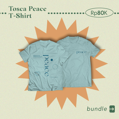 Foto Produk [BUNDLE-4] T-SHIRT + BUCKET HAT - Peace Tosca dari Joinmun Store