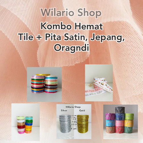 Foto Produk Kain Tile Halus   Kain Tulle Halus souvenir hampers - Orange dari Wilario Shop