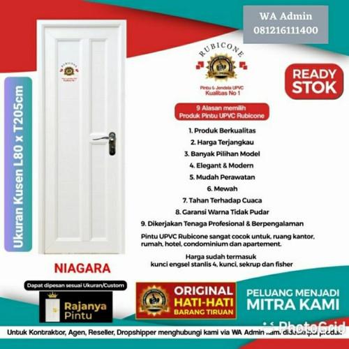 Foto Produk Pintu UPVC Rubicone Niagara L 80 - T 205 Putih - Engsel Kanan, Kunci Silinder dari rajanyapintusby