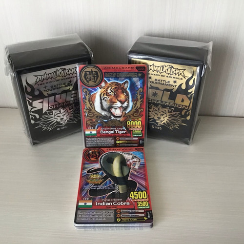 Foto Produk Set ultra rare tournament card + box silver & gold - bengal tiger dari Jotei