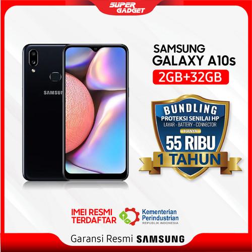 Foto Produk Samsung A10s 2/32 GB Galaxy Smartphone RAM 2 ROM 32 2/32GB Murah Resmi - Hitam, Non Bundle dari SUPER_GADGET