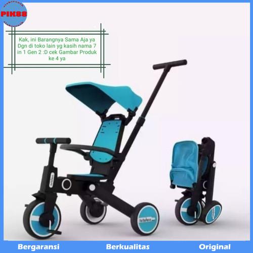 Foto Produk Bebehoo generasi2 3 in 1 Stroller Sepeda Bayi Lipat / Folding Trike - Biru dari PIK88Elektronik