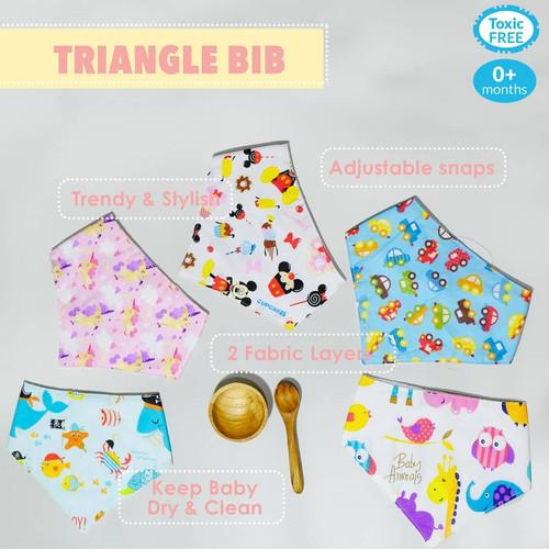 Foto Produk Marveila Triangle Bib / Bib Segitiga - Baby Boy dari Marveila & Friends