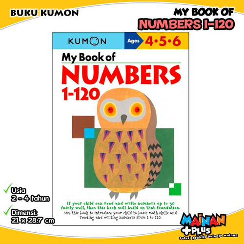 Foto Produk BUKU ANAK KUMON MY BOOK OF NUMBERS 1-120 USIA 4 5 6 dari MainanPlus