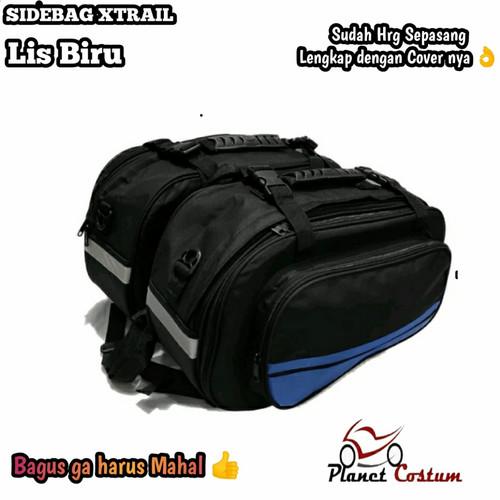 Foto Produk TErmurah !!! Side Bag Oval / Sidebag Motor / Tas Samping Motor - Biru dari bikerspitstop