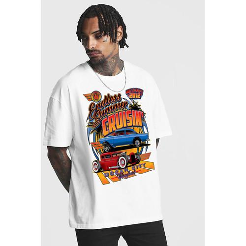 Foto Produk Kaos Classic car ver.5 Tshirt custom kornit beeze series  DTGDTF dari Raster Graphic Print