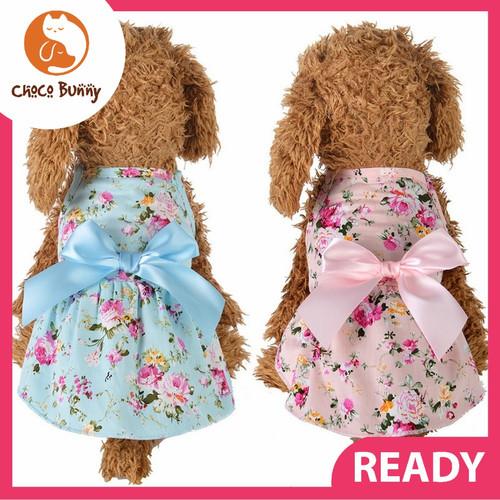 Foto Produk Baju Dress Anjing Kucing Flower Hewan Pet Clothes Kostum Bunga Dog Cat - Pink, L dari Choco_Bunny