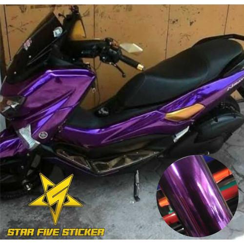 Foto Produk Stiker Skotlet Bodi Motor Warna Ungu Metalik dari stiker scotlet motor