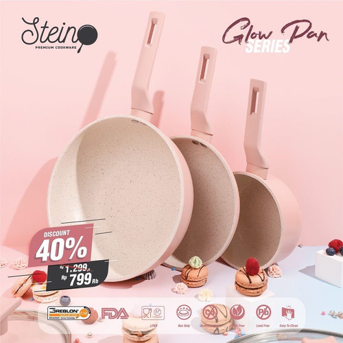 Foto Produk steincookware stein cookware Glow Pan Series ( READY STOK SIAP KIRIM ) - Glowpan Set Aja dari Hendriasari Shop