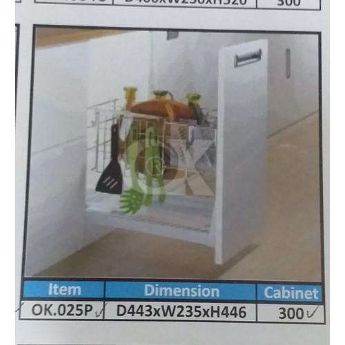Foto Produk PROMO Rak Botol Rak Bumbu Drawer Basket OK 025P for Kitchen Cabinet dari WINSTON-OK OFFICIAL STORE