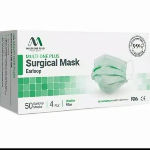 Foto Produk masker Medis Multi One Plus 4 Ply Earloop setara Sensi / Surgical Mask - EARLOOP 4PLY dari Asykar77