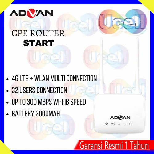 Foto Produk Advan Cpe Router Start Modem wifi Always ON - + kp indosat dari ucell cempaka