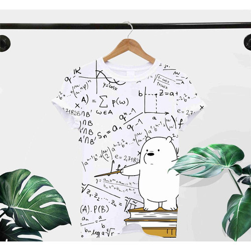 Foto Produk T-Shirt MATH L / BAJU KAOS WANITA L KOREA OVERSIZE KATUN COMBED30s dari omg murah