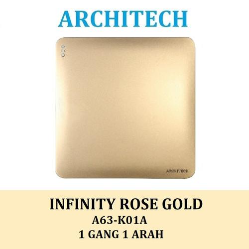 Foto Produk SAKLAR INFINITY GOLD A63 ARCHITECH 2.1 /STOP KONTAK/ ARCHITECH NEW - 1 GANG 1 ARAH dari Super Home Lighting