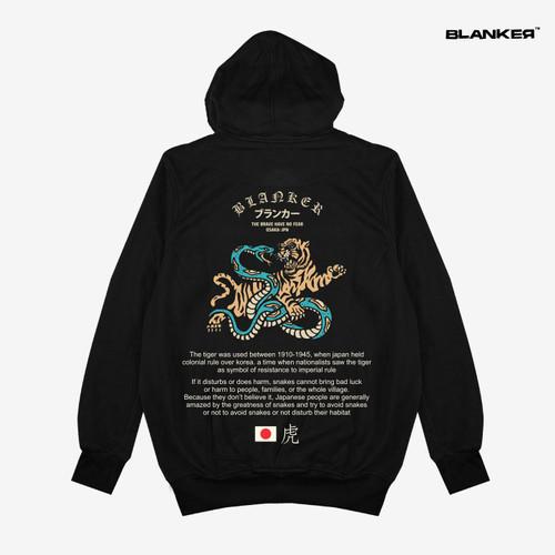 Foto Produk Hoodie BLANKER Japan Snake vs Tiger - Hitam, M dari Blanker ID Official