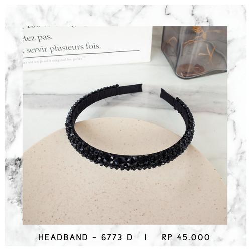 Foto Produk HEADBAND / BANDO KRISTAL - 6773 - BLACK - 6773 D dari Hello friday Shop
