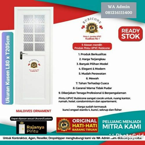 Foto Produk Pintu UPVC Rubicone Maldives Ornament L80 T205 - Engsel Kiri, Kunci Silinder dari rajanyapintusby
