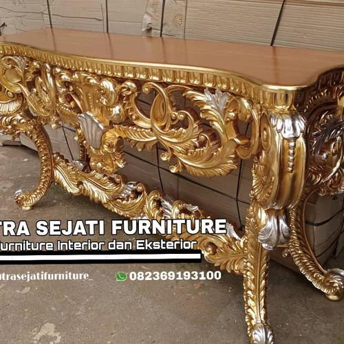 Foto Produk meja konsul mewah jati ukiran dari Putra Sejati Furniture