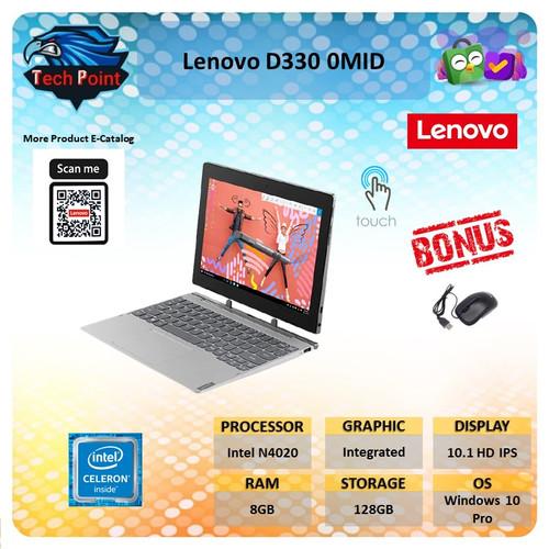 Foto Produk Lenovo D330 TOUCH N4020 8GB 128GB W10Pro 10.1 HD IPS - Unit dari Tech Point