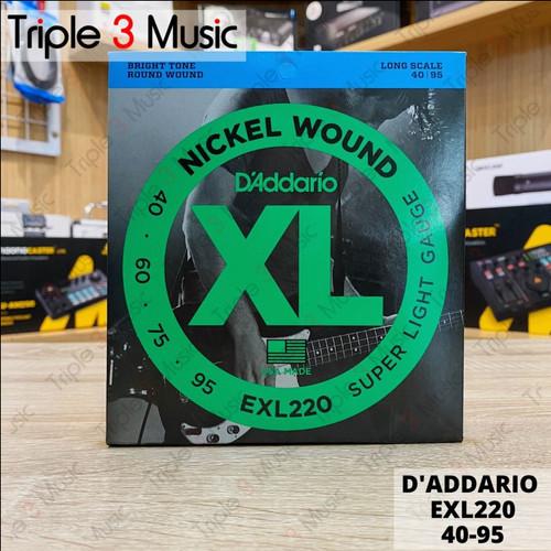 Foto Produk D'Addario EXL220 40-95 senar Bass Elektrik Original dari triple3music