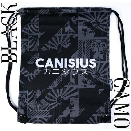 Foto Produk Gymsack Canisius College - Japanese Camo - Limited Edition (Tas Serut) - Hitam dari Mad Gecko
