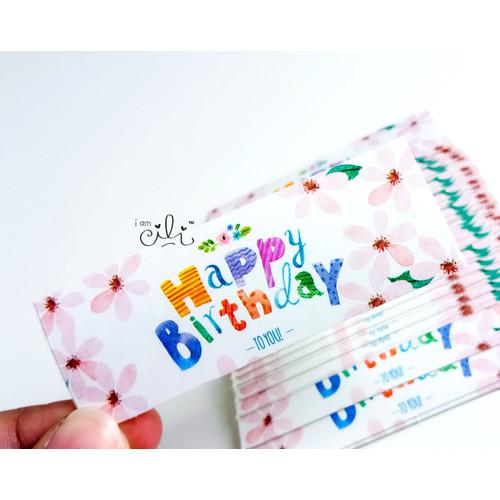 Foto Produk (SBDAY02) Stiker MINI ulang tahun birthday dari i am CiLi
