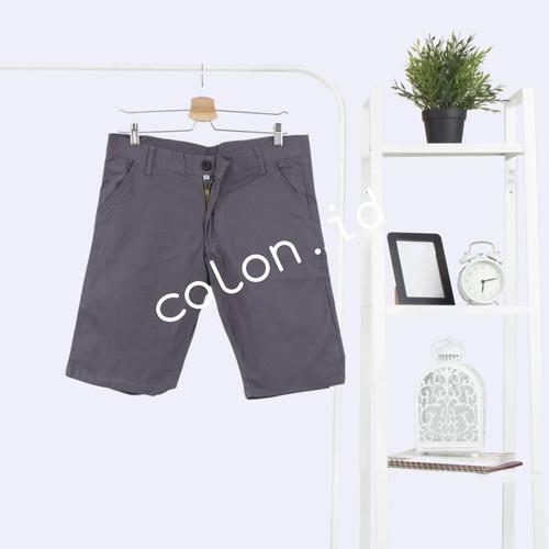 Foto Produk Ribsgold Short Chino Pants / Celana Chino Pendek Pria / Celan - abu tua, 28 dari colon id