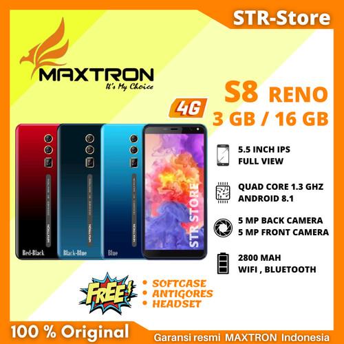 Foto Produk MAXTRON S8 RENO RAM 3/16 - black blue dari STR-STORE