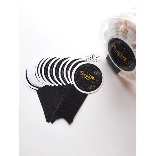 Foto Produk (SN031) stiker congrats hitam elegan (uk 8x15cm) dari i am CiLi