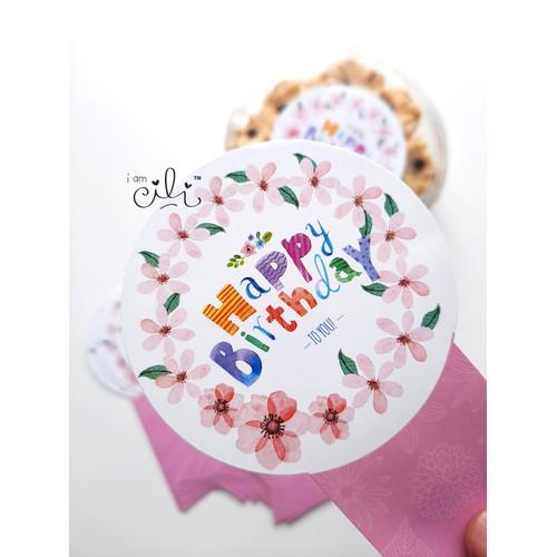 Foto Produk (SBDAY05) stiker ulang tahun lucu (uk 7x14cm) dari i am CiLi