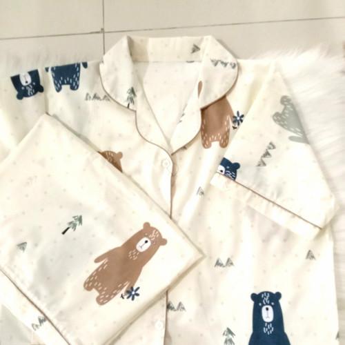 Foto Produk Baju tidur piyama kalem katun premium - Daster all size dari VAVline