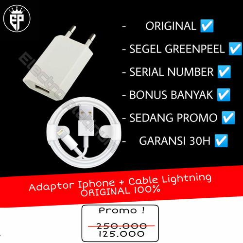 Foto Produk Charger iphone original ori for ip 5/5s 6/6plus 7/7plus 8/8plus ip X dari electro platinum