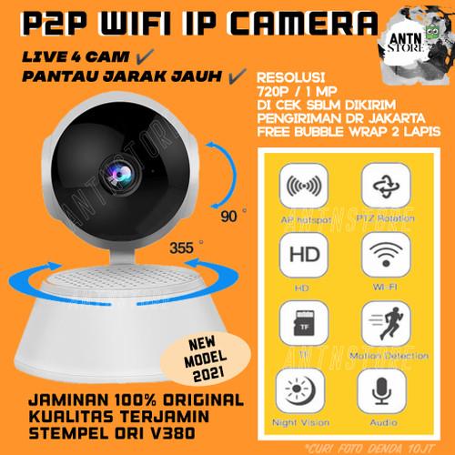 Foto Produk V380 Ip Camera Cctv Wifi Indoor HD 720p Ip Cam Wireless P2P - Tanpa Memory dari AntnStore