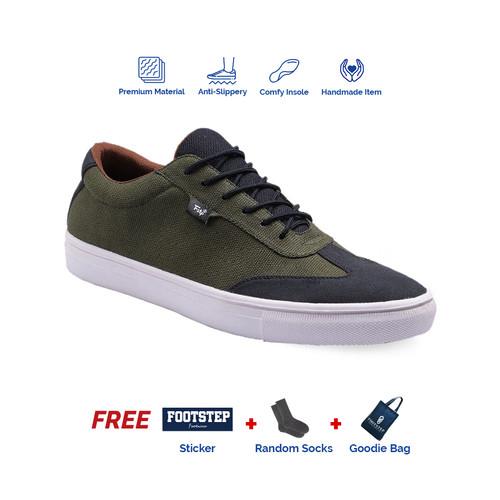 Foto Produk Sepatu Pria Sneakers Footstep Footwear - Atom Green Army - 39 dari Footstep Footwear