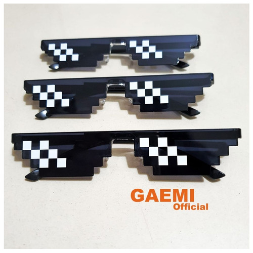 Foto Produk Kacamata Thug Life Double Pixel Warna Unisex - Black dari Gaemi