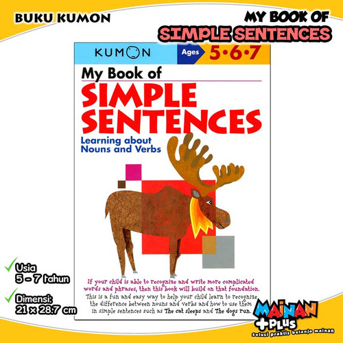 Foto Produk BUKU ANAK KUMON MY BOOK OF SIMPLE SENTENCES 5 6 7 dari MainanPlus