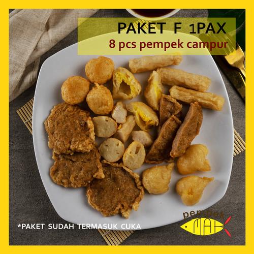 Foto Produk PEMPEK EMAK INDAH - PEMPEK MPENAK PALEMBANG ASLI - Paket Pempek 1 Pax - F-campur dari Pempek Emak Indah