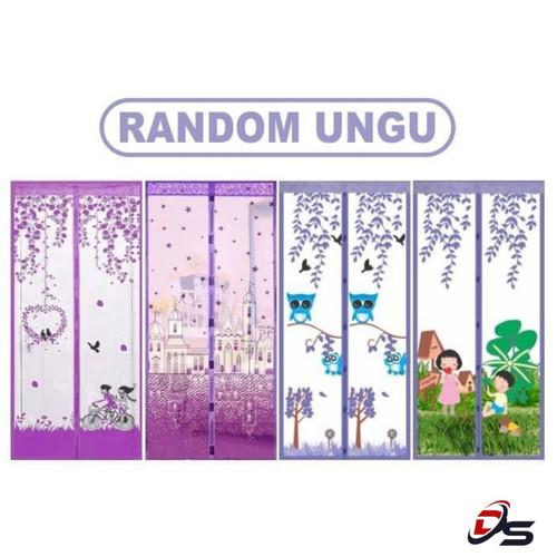 Foto Produk Tirai Magnet Anti Nyamuk Gorden Kualitas Super Diatas Bai Chuan-Random - random ungu dari DreamShop88
