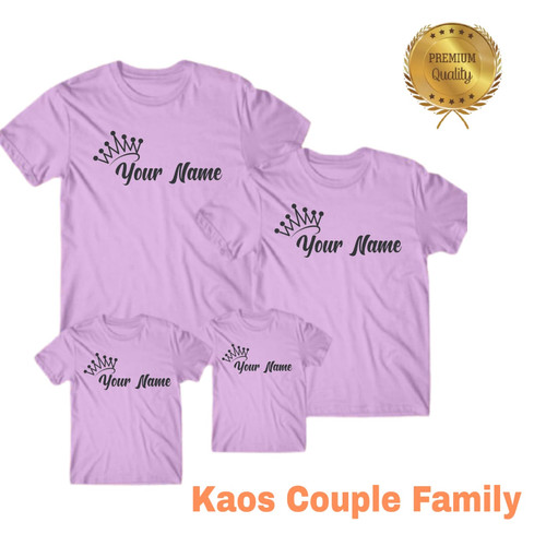 Foto Produk Kaos Custom Nama pake nama sendiri dengan mahkota anak,Ibu dan ayah - ANAK, S dari distro manda